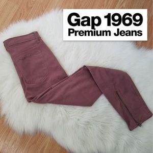 NEW Gap 1969 Stretch True SKINNY Ankle Zip Pocket